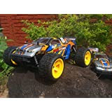 Model Art Sand Electric Off Road Racing Truggy, Red White Black Blue Yellow Black