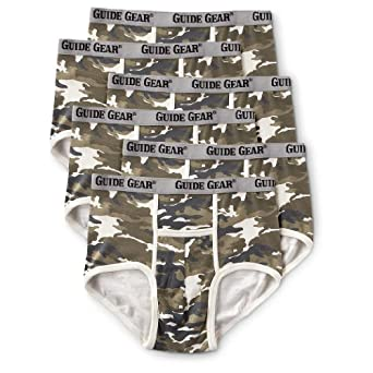 6 - Pk. of Guide Gear Pouch Briefs Camo by Guide Gear