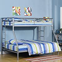 DHP Twin Sized Bunk Bed Over Full Sized Bed with Metal Frame by Dorel Industries
