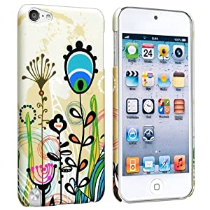 Everydaysource Compatible with Apple® iPod touch® 5th Generation - Colorful Cute Butterfly Rear / Cute Cartoon Little Plant Rear - 2 packs Snap-on Rubber Coated Cases