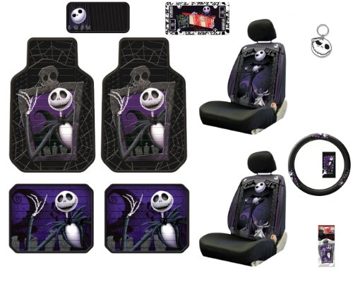 nightmare before christmas nbc jack skellington graveyard front rear car truck suv seat plasticlear floor - Nightmare Before Christmas Steering Wheel Cover