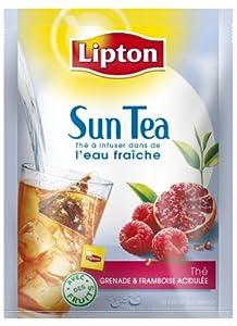 Lipton - Thé Froid Suntea Grenade Framboise - 20 Sachets - Lot de 3