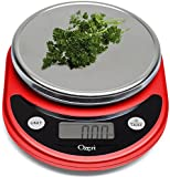 Ozeri Pronto Digital Multifunction Kitchen and Food Scale, in Red