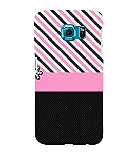 Pink Chevron Lines 3D Hard Polycarbonate Designer Back Case Cover for Samsung Galaxy S6 Edge+ G928 :: Samsung Galaxy S6 Edge Plus G928F