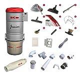 BVC Zentralstaubsauger Komplett-Set: Junior - 3 Saugdosen Komplett-Set mit Klebe-Rohr, Kunststoff-Saugdosen und LUX-Arbeitszubehörset1