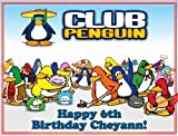 """Single Source Party Supply - Club Penguin Edible Icing Image #1-8.25"""" Round"""