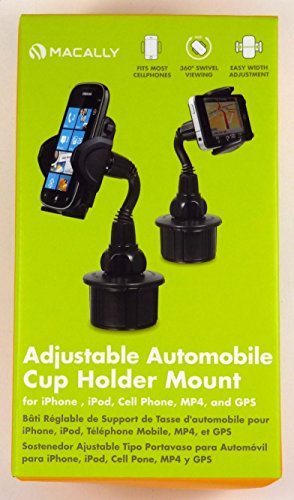 Esaska(TM) MCUP MACALLY Adjustable Car Cup Holder/Mount for iPhone/iPod/GPS/Smartphone