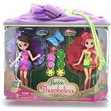 Barbie Thumbelina Janessa & Chrysella Fairy Mini Doll Playset