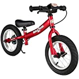 BIKESTAR® Premium Kids Safety Balance Bike for brave explorers aged from 3 years ★ 12s Sport Edition ★ Heartbeat Red