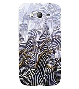 ColourCraft Zebras Design Back Case Cover for SAMSUNG GALAXY GRAND I9082