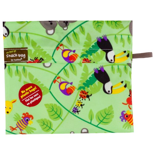 Kushies Baby Kushies On The Go Snack Bag, Aussie Print, Large - 1