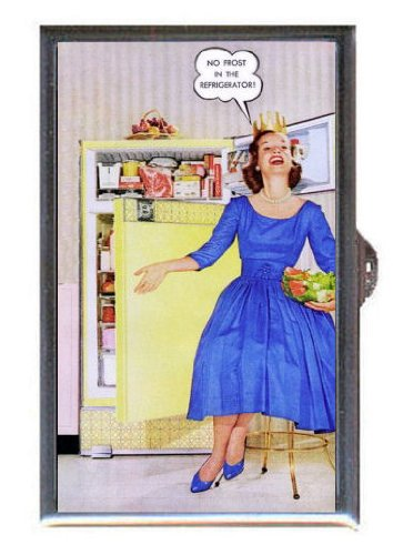 1950s HOUSEWIFE KITCHEN FROST-FREE FRIDGE Guitar Pick or Pill Box USA Made (1950 Refrigerator compare prices)