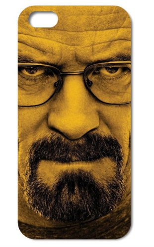 NdB 1355 - Cover Case Custodia per iPhone 5 e 5S Stampa Walter White Heisenberg Nera BrBa - Rigida
