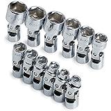 SK 1337 12 Piece 1/4-Inch Drive 6 Point 5-Millimeter to 15-Millimeter Flex Socket Set