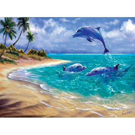 Cheap SunsOut Bahama Dolphins 1000pc Jigsaw Puzzle by Steve Sundram (B0034N7WL0)