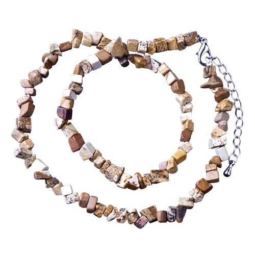 Pugster Sand Rock Semi Precious Chip Stone Necklace