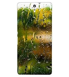ColourCraft Beautiful Rain Pattern Design Back Case Cover for SONY XPERIA C5 ULTRA