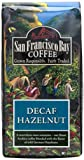 San Francisco Bay Coffee, Hazelnut Decaf Water Processed Ground Coffee, 12-Ounce Bag
