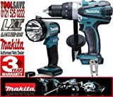 MAKITA BML185 18V Cordless Torch Plus BHP458Z 18V LXT 2 Speed Combi Drill (Body Only)