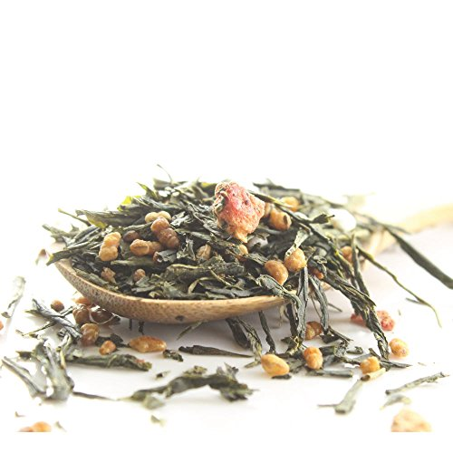 Premium Japanese Genmaicha W/ Strawberry Loose Leaf Green Tea (4Oz / 110G)