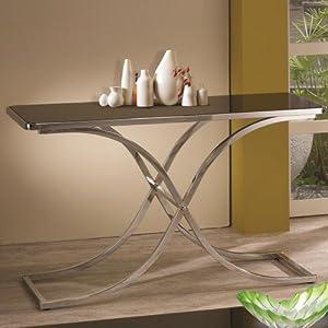 Amazon.com - Sofa Table - Glass Console Table