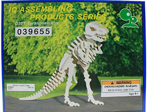IQ Assembling Products Series Balsa Wood 3D Puzzle Tyrannosaurus - 1