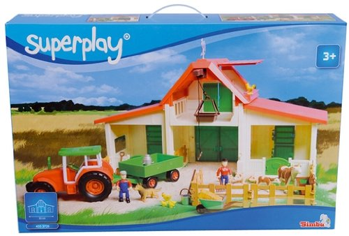 Playset Simba-Superplay Fattoria Con Accessori