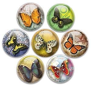 Amazon.com : Decorative Push Pins 7 Small Butterflies : Tacks And