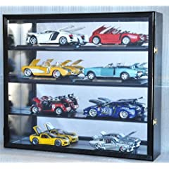 Buy 1 18 Scale Diecast Display Case Cabinet Holder Rack w  UV Protection- Lockable with Mirror Back by sfDisplay