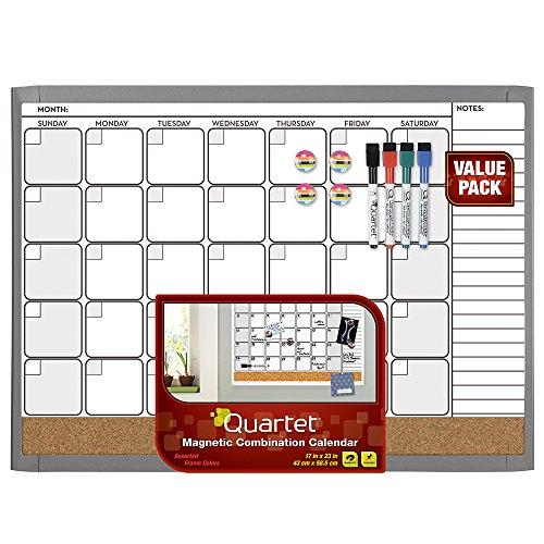 Calendar Bulletin Board Combo : Quartet dry erase cork calendar board combo value pack