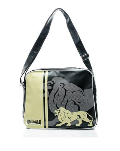 Lonsdale Borsa A Tracolla Lion [Nero/Sabbia]
