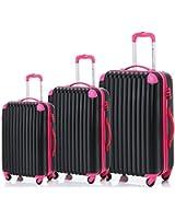 Merax Travelhouse 3 Piece PC+ABS Spinner Luggage Set with TSA Lock