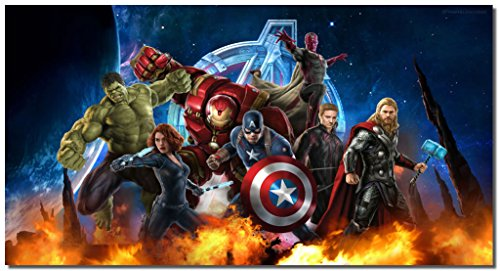 Picture Sensations Framed Canvas Art Print, Marvel Avengers Age of ultron Super Hero Wall Canvas Art - 36