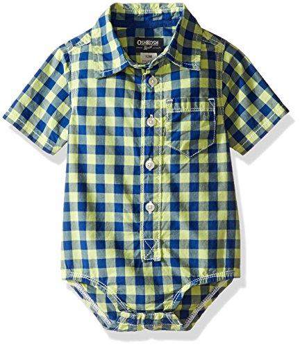 oshkosh-baby-boys-2-tone-check-button-down-bodysuit-lime-multi-24-months