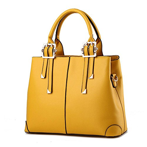 koson-man-womens-fashionable-pu-leather-vintage-beauty-tote-bags-top-handle-handbagyellow