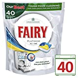 Fairy Platinum All in One Lemon Dishwasher 40 Tablets (Pack of 4)
