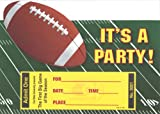 Boys Stadium Football Invitations, Fill-In Style, 8 Pack