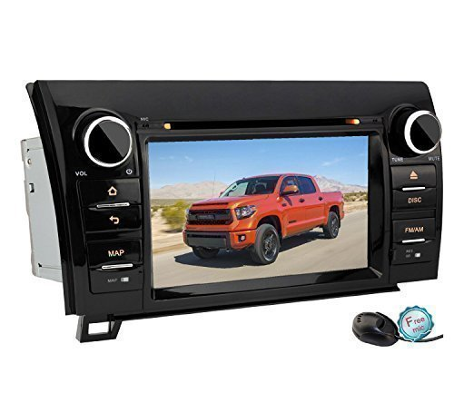 YINUO 7 Inch Android 4.4.4 Touch Screen Car Stereo DVD Player In Dash GPS Navigation for 2007-2013 Toyota Tundra/ 2008-2013 Toyota Sequoia Support Bluetooth/3G Wifi Hotspots/OBD2/DVR/AV-IN (Elm327 Free Software Download compare prices)