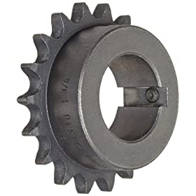 Martin Roller Chain Sprocket, Bored-to-Size, Type B Hub, Single Strand, 40 Chain Size