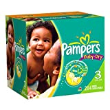 Pampers Baby Dry Diapers Economy Plus Pack, Size 3, 204 Count ~ Pampers