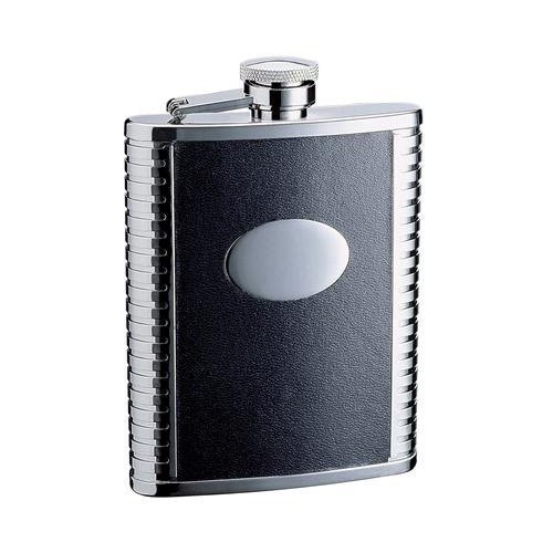 visol-tux-18oz-black-leather-stainless-steel-flask-by-visol-products-wedding-favors