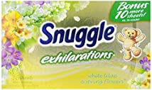 Snuggle Exhilarations Fabric Softener Dryer Sheets White Lilac & Spring Flowers 80-Count