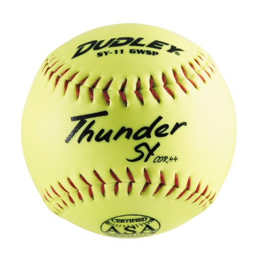 Dudley Thunder SY Slow Pitch Softball, 11 Inches, Neon Yellow ( Pack of 12 ) (Womens Slow Pitch Softballs compare prices)