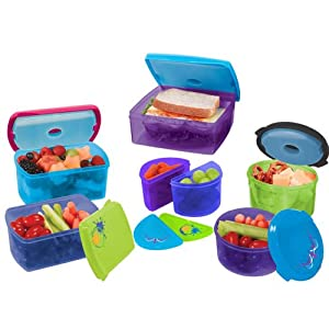 Fit & Fresh Kids Value Lunch Set, 17 Piece Set
