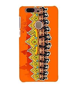 Ravan Clipart 3D Hard Polycarbonate Designer Back Case Cover for Huawei Honor 8