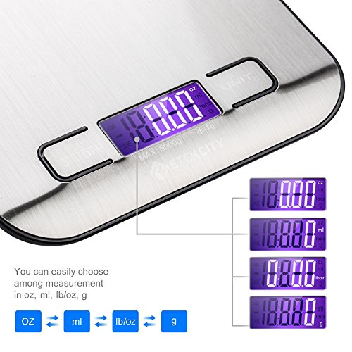 Digital Multifunction Food Kitchen Scale,stainsless steel