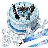 Disney Frozen Cake Decoration Set - Topper Figures & Rings & Birthday Lanyard
