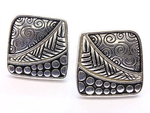EARRING CLIP METAL CASTING SILVER Fashion Jewelry Costume Jewelry fashion accessory Beautiful Charms