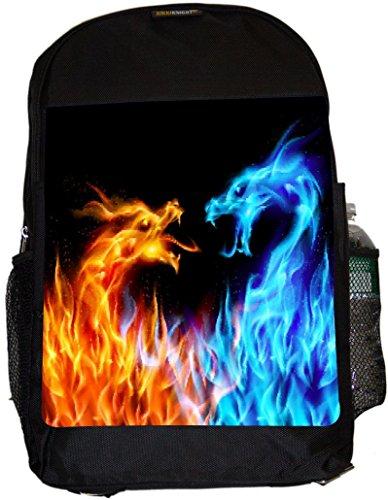 UKBK Fire Lion Superstrong Back Pack - Padded for Laptops & Tablets