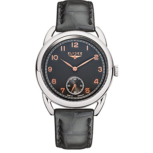 ELYSEE Made in Germany Vintage Lady 80541 36mm Stainless Steel Case Grey Calfskin Synthetic Sapphire Women's Watch